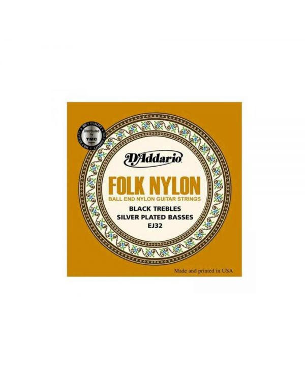 DAddario EJ32 Folk Nylon Guitar Strings, Ball End