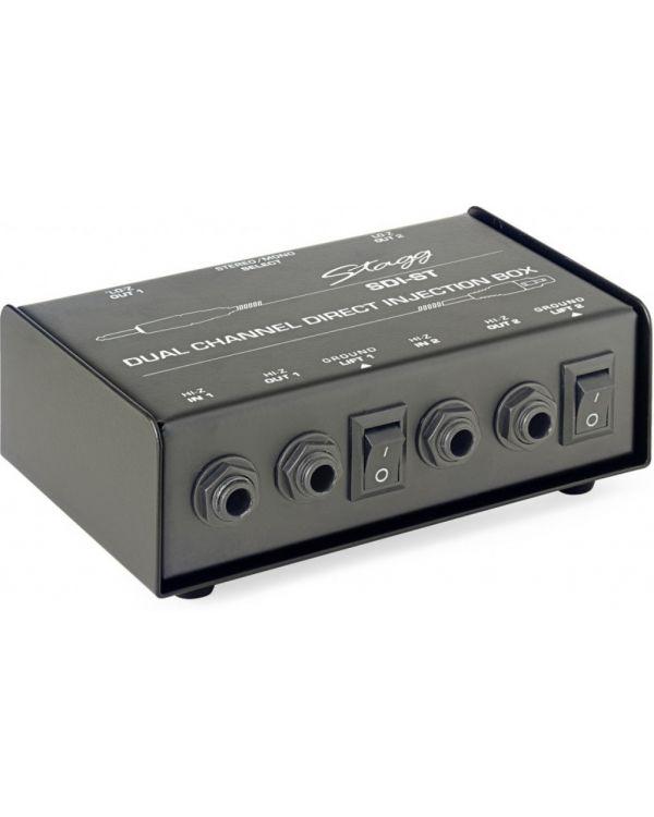 Stagg SDI-ST 2 Channel Passive DI Box With Mono/Stereo Switch