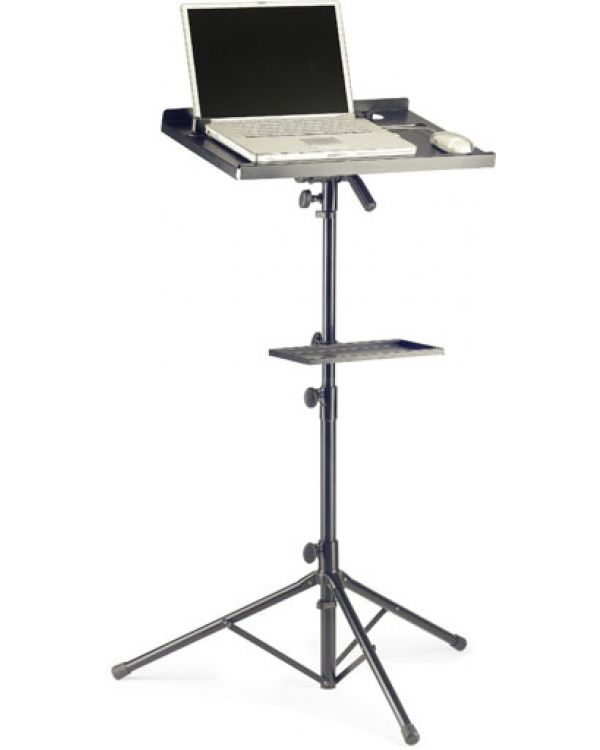 Stagg COS10BK Computer Stand with Accessory Shelf