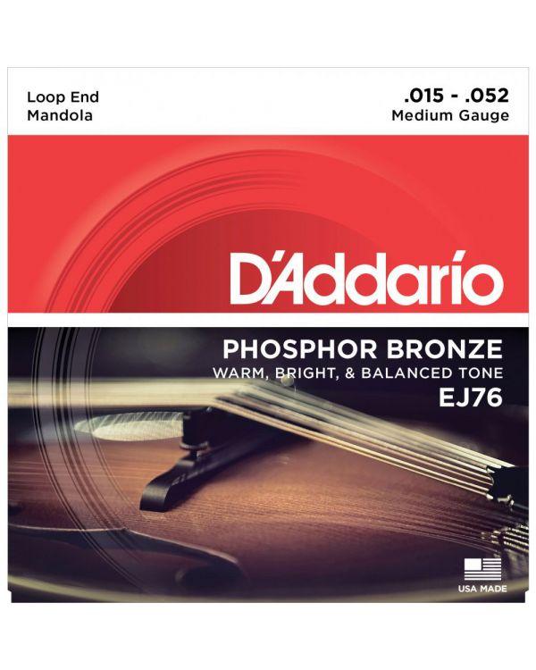 DAddario EJ76 Phosphor Bronze Mandola Strings, Medium, 15-52