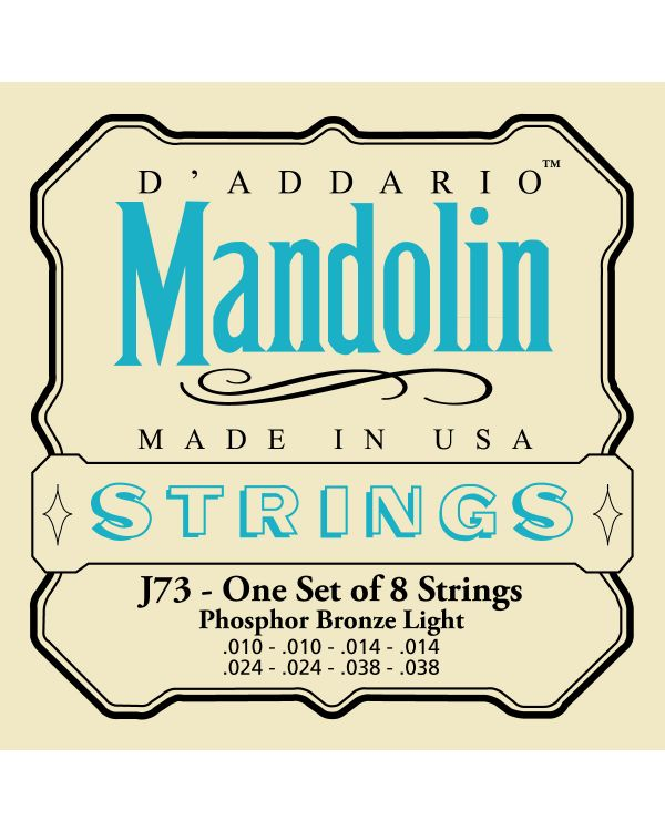 DAddario EJ73 Light Mandolin Strings 10-38