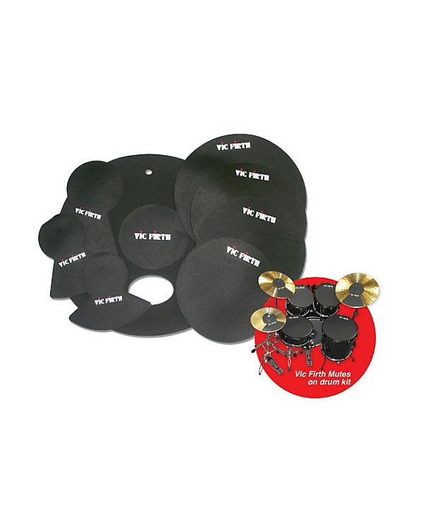 Vic Firth 10/12/14(X2)/20 Drum Mute Pack with Hihat and Cymbal Mutes
