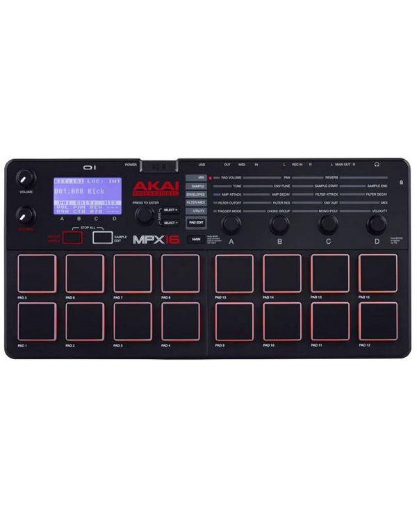 Akai Professional MPX16 Drum Sampler and MIDI Controller