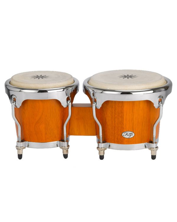 Natal Fuego Series Natural Wood Bongos in Matt Honey