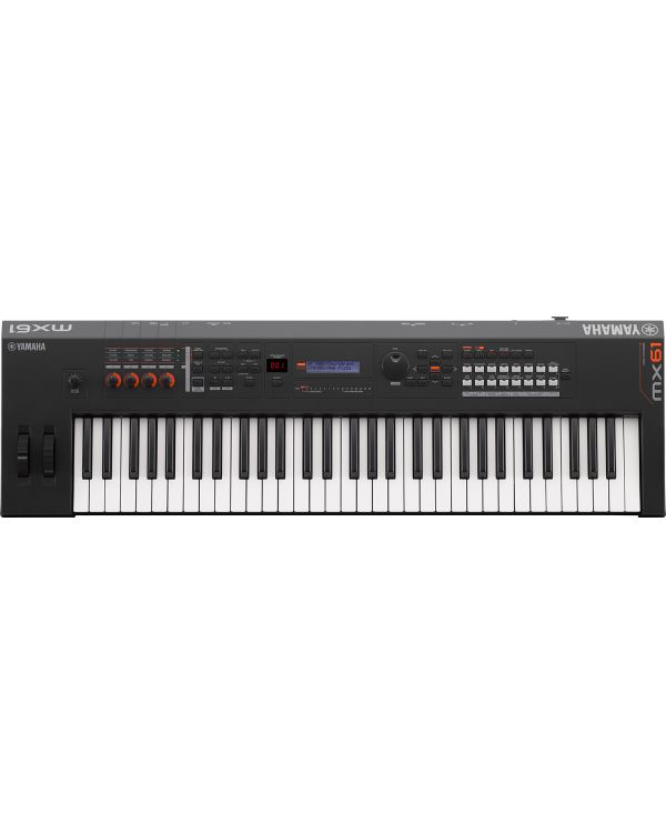 Yamaha MX61 Version 2 Synthesizer 61 Key Edition, Black