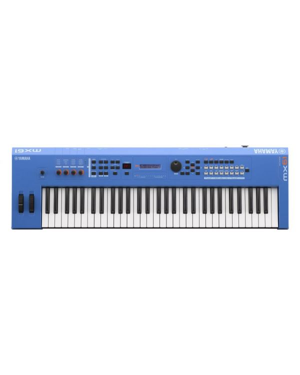 Yamaha MX61 Version 2 Synthesizer 61 Key Edition, Blue