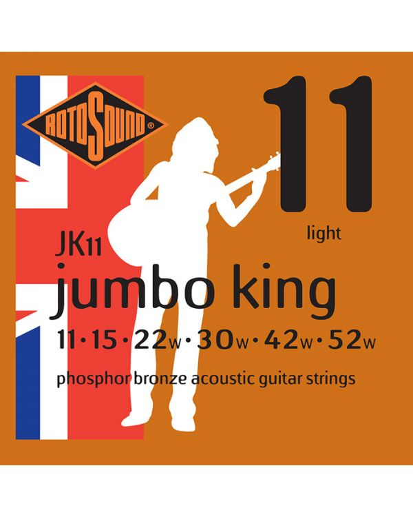 Rotosound JK11 Jumbo King Acoustic Guitar Strings 11-52