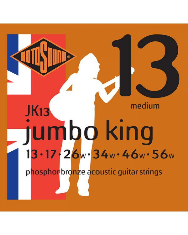 Rotosound Phosphor Bronze 13-56 Acoustic Guitar Strings
