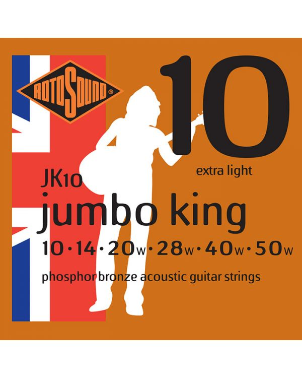 Rotosound JK10 Jumbo King Acoustic Guitar Strings 10-50
