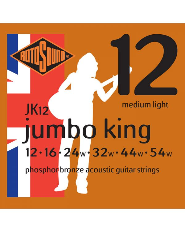 Rotosound JK12 Jumbo King Acoustic Guitar Strings 12-54