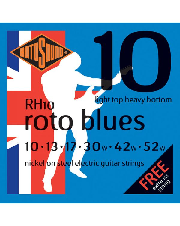 Rotosound RH10 Roto Blues Electric Guitar Strings 10-52