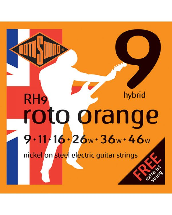Rotosound RH9 Roto Orange Hybrid Electric Guitar Strings 09-46