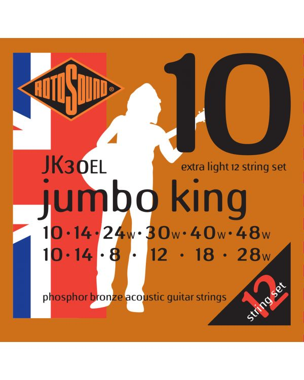 Rotosound JK30EL 12-String Acoustic Guitar Strings 10-48