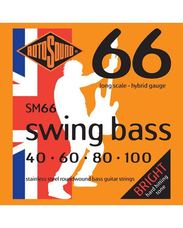 Rotosound SM66 Swing Hybrid Bass Guitar Strings 40-100