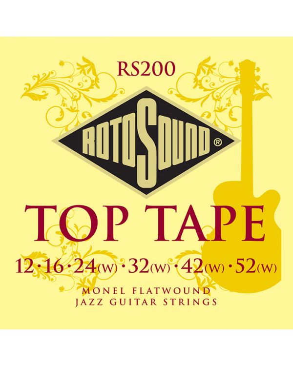 RotoSound Top Tape Monel Jazz Flatwound Electric Strings 12-52