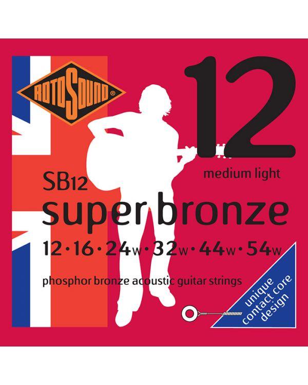 Rotosound SB12 Super Bronze Acoustic Guitar Strings 12-54