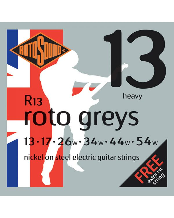 Rotosound R13 Roto Greys Electric Guitar Strings Heavy 13-54