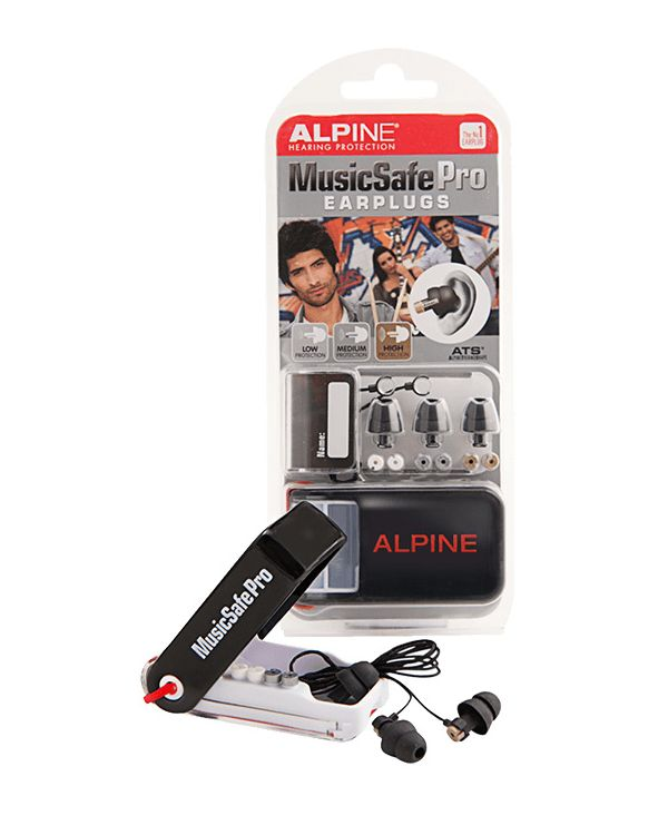 Alpine MusicSafe Pro Ear Plugs with Case, Black