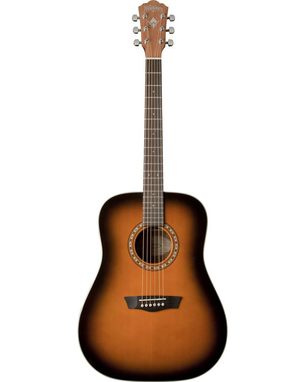 Washburn WD7SATB Dreadnought Acoustic Guitar in Antique Tobacco Burst