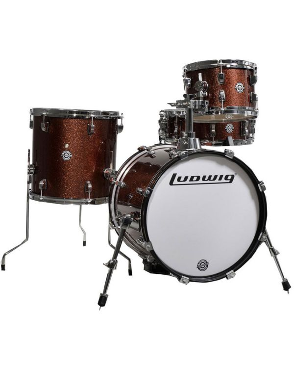 Ludwig Questlove Breakbeats Shell Pack, Wine Red Sparkle