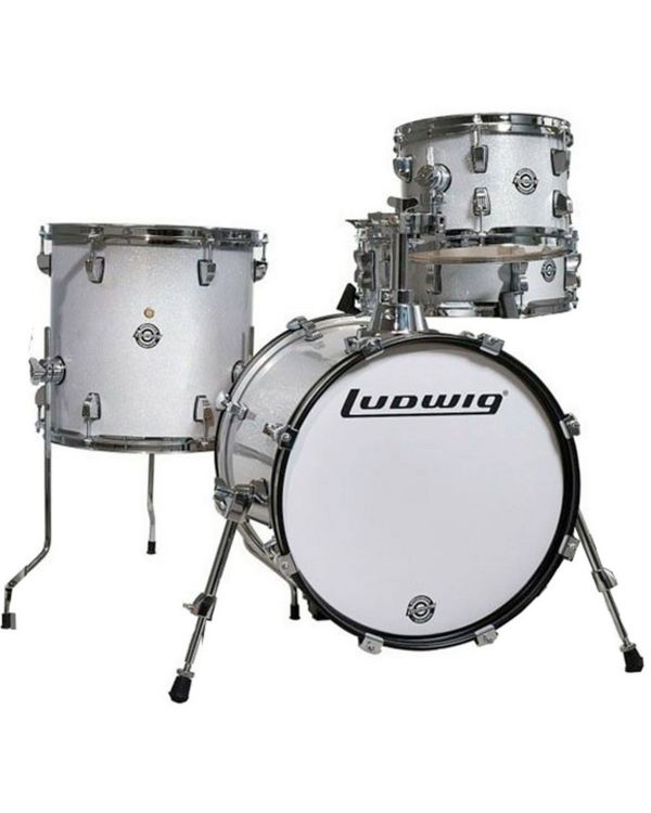 Ludwig Questlove Breakbeats Shell Pack, White Sparkle