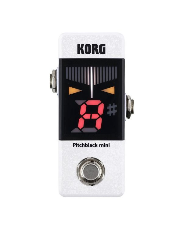 Korg Pitchblack Mini Tuner Pedal, White