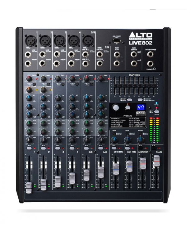 Alto Live 802 8 Channel USB Mixing Desk