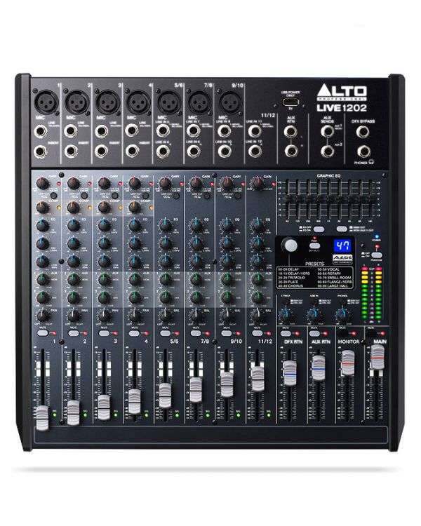 Alto Live 1202 12 Channel USB Mixing Desk