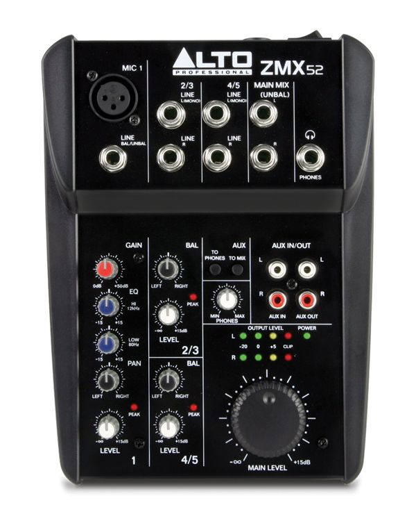 Alto Zephyr ZMX52 5 Channel Mixing Desk