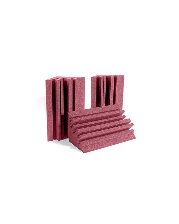 Auralex Metro LENRD Burgundy Acoustic Foam Bass Traps (Pack of 4)