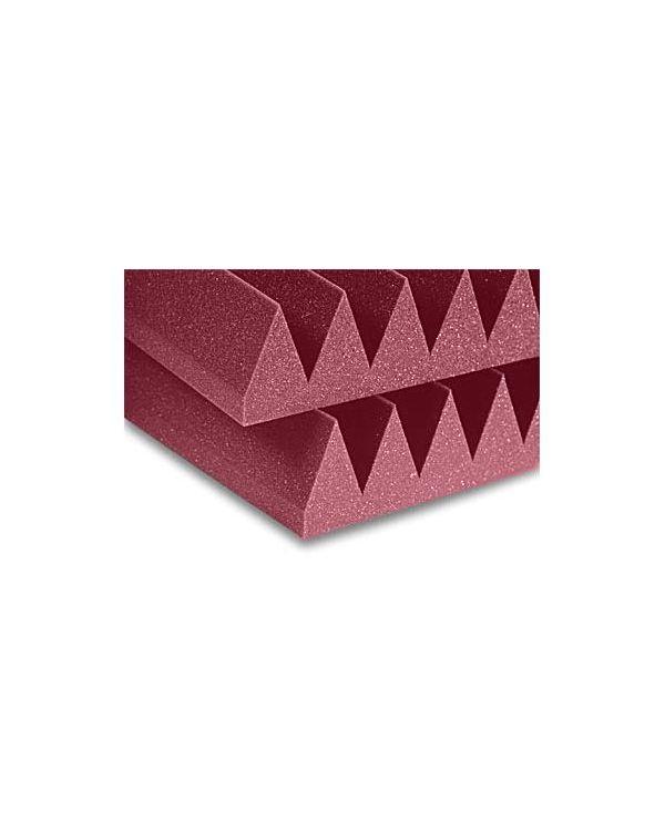 Auralex 4 Studiofoam Wedge-24 Acoustic Foam Tiles - Burgundy