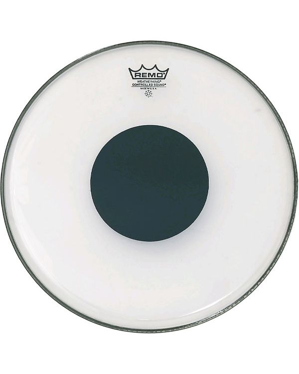 """Remo 14"""" CS Clear Tom / Snare / Floortom Head With Black Dot"""