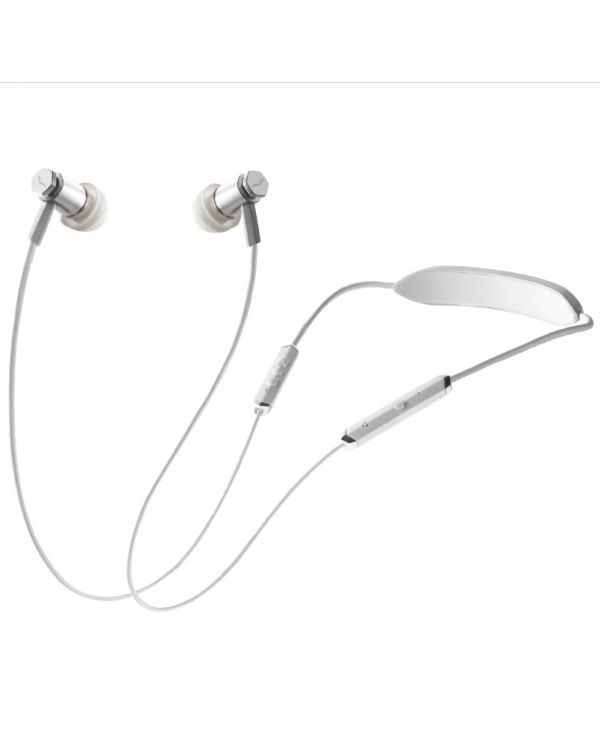 V-MODA Forza Metallo Wireless Earphones - White Silver