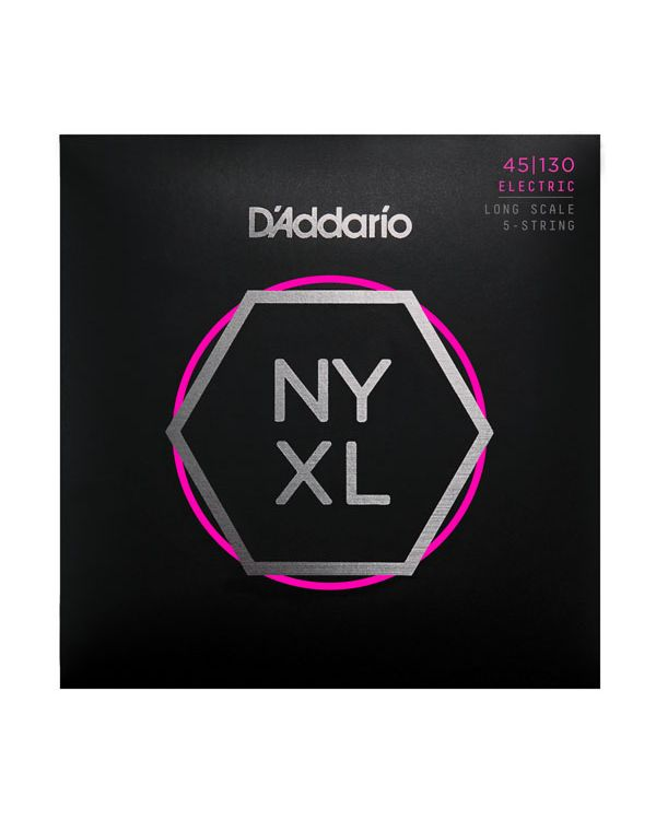 DAddario NYXL45130 Nickel Wound Bass Guitar Strings, 45-130