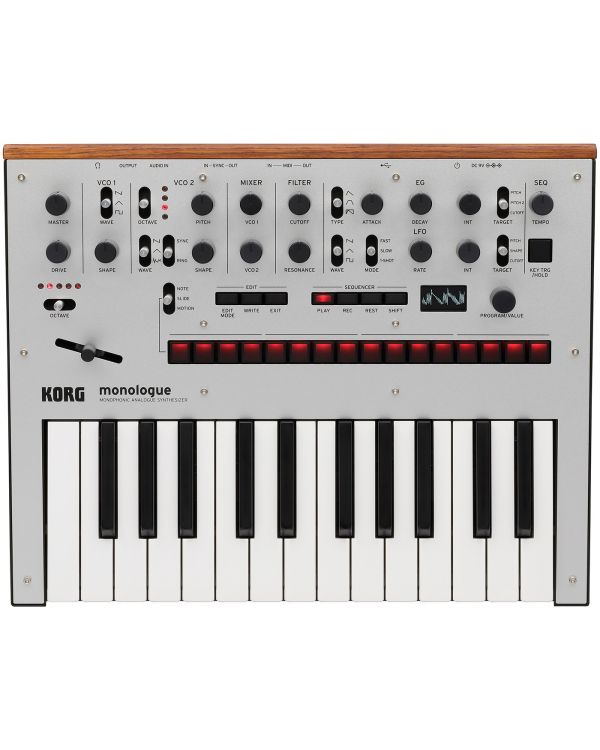 Korg Monologue Analogue Synthesizer in Silver