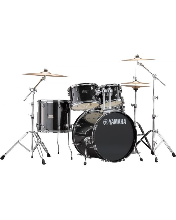 """Yamaha Rydeen 20"""" Drum Kit with Hardware and Cymbals in Black Sparkle"""