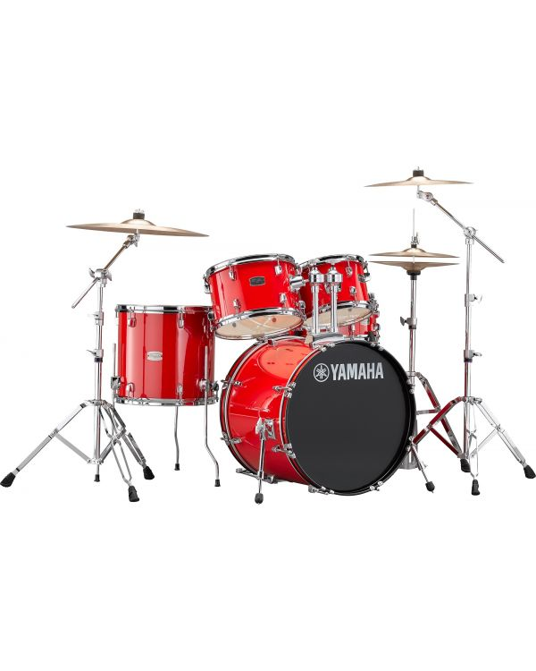 """Yamaha Rydeen 20"""" Drum Kit with Hardware and Cymbals in Hot Red"""