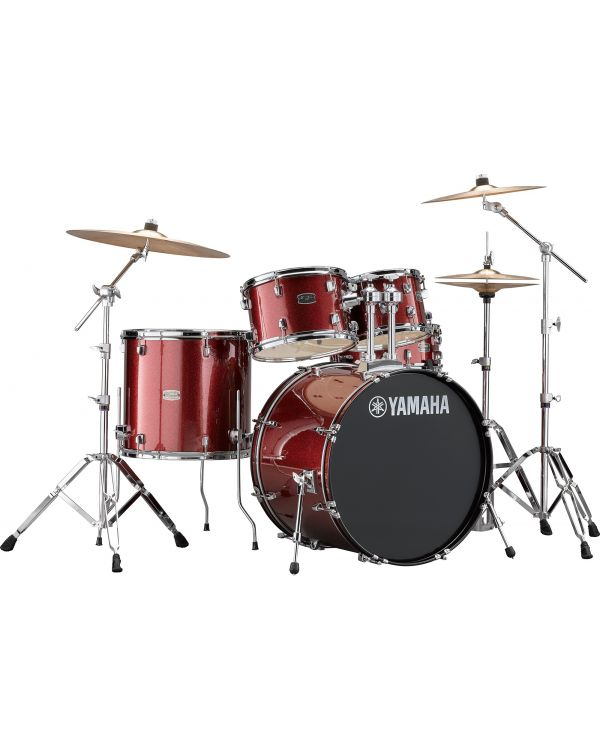 """Yamaha Rydeen 22"""" Drum Kit with Hardware and Cymbals in Burgundy Sparkle"""