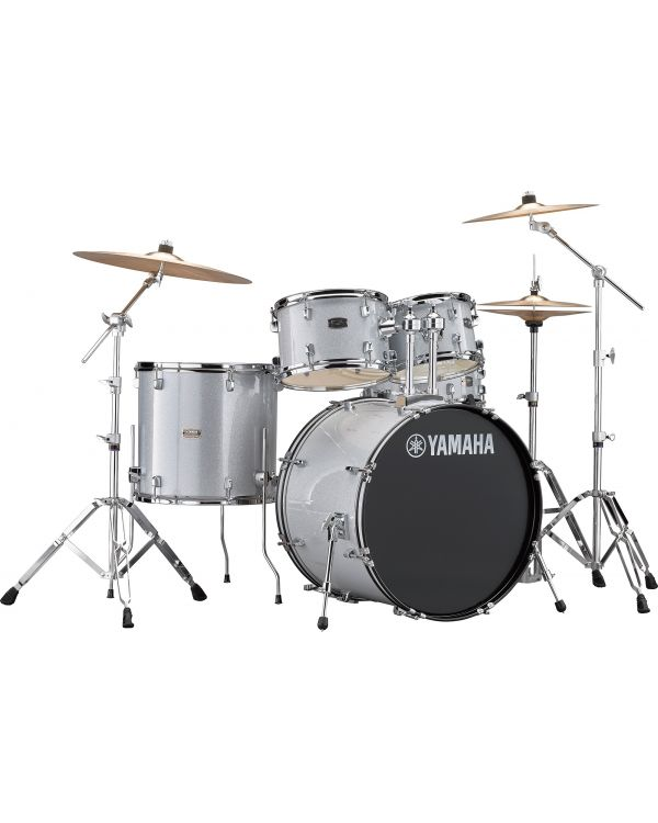 """Yamaha Rydeen 22"""" Drum Kit with Hardware and Cymbals in Silver Sparkle"""