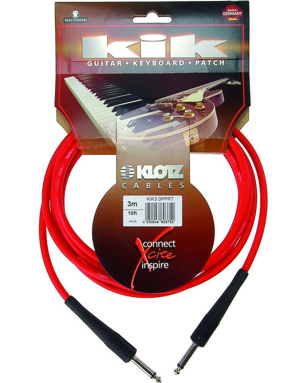 Klotz KIK Red Instrument Cable, 3m
