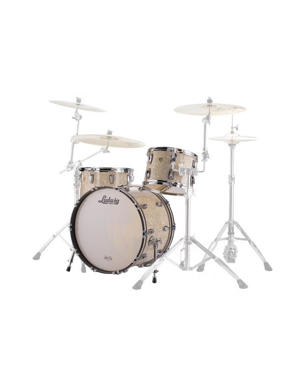 Ludwig 22 Classic Maple FAB Drum Shells in Vintage White Marine
