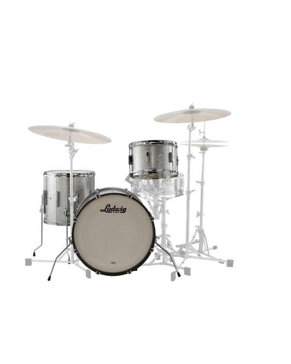 Ludwig 20 Club Date Downbeat 3-piece Shell Kit in Silver Mist Sparkle