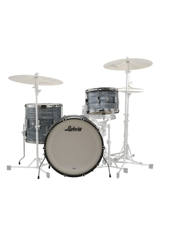 Ludwig 22 Club Date FAB 3-Piece Shell Kit Vintage Blue Oyster