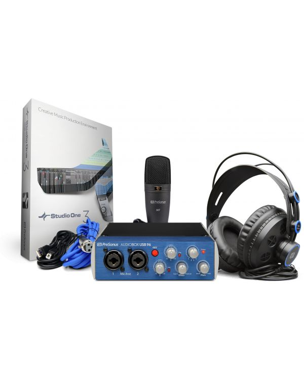 PreSonus Audiobox USB 96 Studio Recording Package