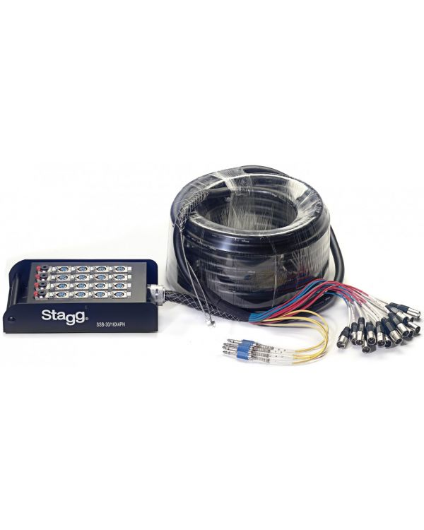 Stagg S-series Stagebox 16X XLR F Inputs/ 4X Stereo Jack Outputs 30M