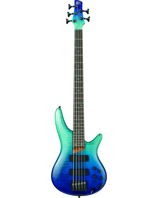 Ibanez SR875-BRG Electric SR 5-String Bass with Blue Reef Gradiation