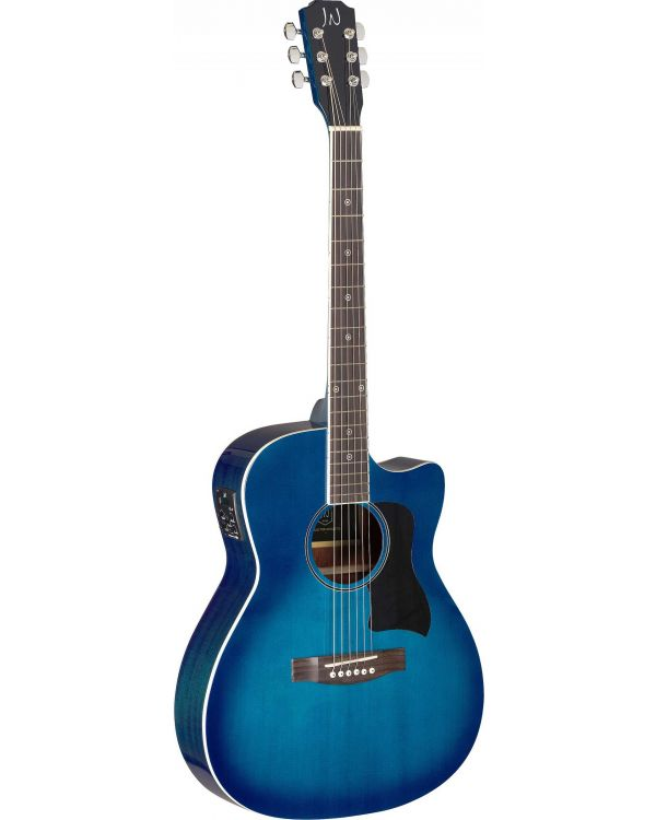 JN Guitars Bessie Electro-Acoustic Guitar Transparent Blue Burst