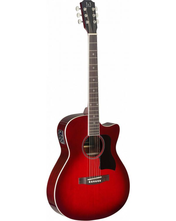 JN Guitars Bessie Electro-Acoustic Guitar Transparent Red Burst
