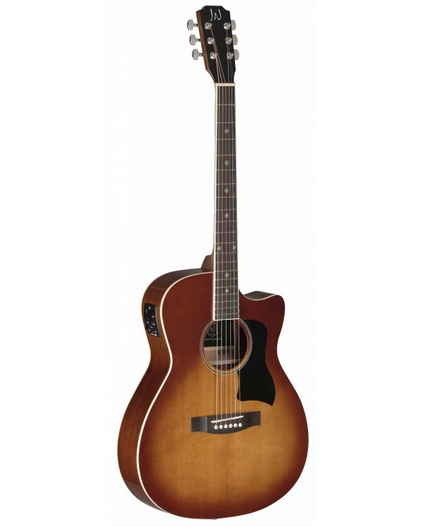 JN Guitars Bessie Electro-Acoustic Guitar Dark Cherry Burst