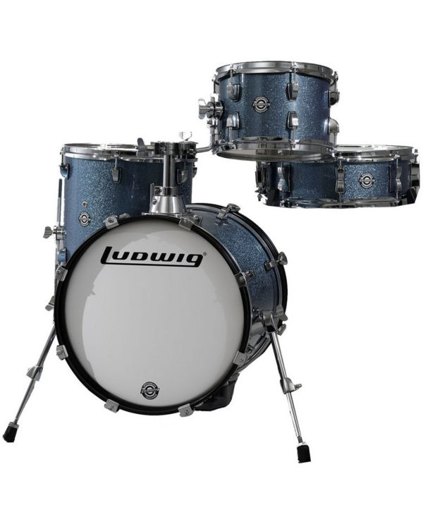 Ludwig Questlove Breakbeats Shell Pack, Azure Blue
